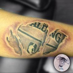 Basketball illusion tattoo - 3D illusion forearm tattoo on TattooChief ...