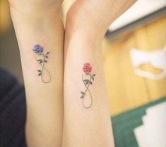 good-best-friends-rose-flower-tattoos-pictures