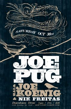 Joe Pug Poster by konigmedia