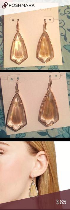 Kendra Scott Carla Drop Earrings-Natural/Rose Gold Kendra Scott Carla Drop Rose Gold Earrings Kendra Scott Jewelry Earrings