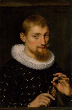 Мужской портрет (1597) (21.6 х 14.6 см) (Нью-Йорк, Метрополитен). Peter Paul Rubens
