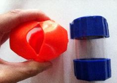Hand Strengthening Activity for Occupational Therapy - also works with cutting a slit in a tennis ball (munchers)