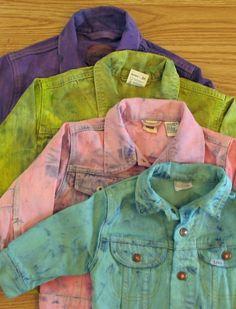 Upcycled denim jacket.