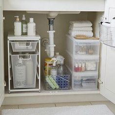 bathroom under sink organization ideas - bathroom under sink organization ; bathroom under sink organization diy ; bathroom under sink organization ideas Bathroom Cabinet Organization, Sink Organizer, Diy Organization, Bathroom Cabinets, Organizing Ideas, Under Bathroom Sink Storage, Under Cabinet Storage, Bathroom Shelves, Home Organizer Ideas