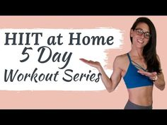 This is a 5 day HIIT at home workout series to burn fat and build strength. No equipment needed great for beginners. 5 Day Workouts, Flat Abs Workout, Full Body Hiit Workout, Slim Waist Workout, Hiit Workout At Home, Dumbbell Workout, Workout Videos, At Home Workouts, Exercise Videos