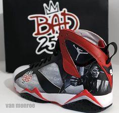 Spike Lee in Air Jordan VII Bad 25 Customs