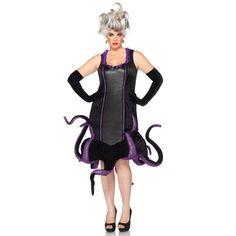 Ursula Plus Size Disney Costume – Disney Halloween Costumes 2015 Ideas Halloween Party Kostüm, Unique Halloween Costumes, Plus Size Halloween, Scary Costumes, Halloween Outfits, Adult Costumes, Costumes For Women, Costume Ideas, Halloween Ideas