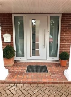 Doors with a personal touch Custom made aluminium entrance doors Front Door Entrance, Front Entrances, Front Porch, Shaped Windows, Steel Paint, Window Glazing, Window Sizes, Wood Images, Aluminium Doors