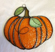 Handcrafted Stained Glass Pumpkin Window/Wall by craftycleo, $30.00