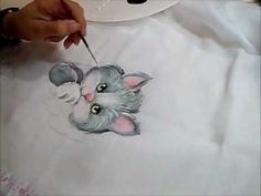 Pintura em Fraldas 2 - Gatinho - How to paint cat - YouTube