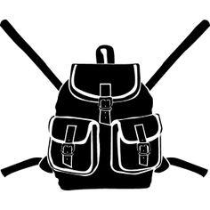 Rucksack mit Schnallen - Ein Wanderrucksack mit Schnallen.
