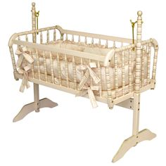Antique Spindle Cradle in Versailles Finish @PoshTots