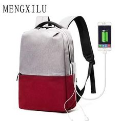 05a155465b95 MENGXILU Women Backpacks USB Charging Male Casual Bag Travel Teenager  Student Backpack to School Notebook Laptop