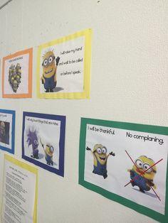 Classroom rules minion theme