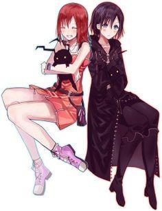 Kairi & Xion and a cute little heartless :3