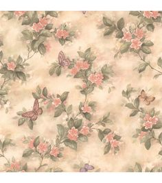 This Brewster Lisa Butterfly Floral Wallpaper is graced with a floral and butterfly theme. Brilliant in the bath, the wallpaper is pre-pasted for. Wallpaper Color, Cheap Wallpaper, Wallpaper Samples, Home Wallpaper, Peach Wallpaper, Wallpaper Borders, Butterfly Wallpaper, Bathroom Wallpaper, Wallpaper Ideas