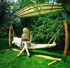 Imagine yourself whiling away the hours, lying back in our super comfortable Hammock, created from curved English Oak.With a glass of wine and the sun shinning!!!