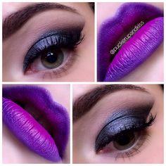 #makeup #blogger #beautyblogger #makeupblog #makeuplover #eyeshadow #eyeliner #greeneyes #beautyblog #blog #bloggerspain #love #lipstick #pretty #makeupart #makeupaddict #smokeyeye #beauty #creativemakeup #cateye #purplelips #purplelipstick