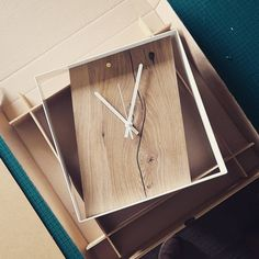 """90 Likes, 2 Comments - JAM Furniture (@jamfurniture) on Instagram: """"Reclaimed oak clock with white frame about to be shipped. Love the black resin filled crack that…"""""""