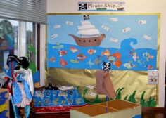 Pirate ship role-play area classroom display photo - Photo gallery - SparkleBox