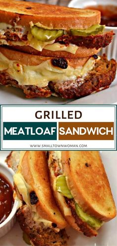 Grilled Meatloaf Sandwich The best recipe idea for your leftover meatlof! Grilled Meatloaf Sandwich is a tasty treat perfect for Grill Sandwich, Meatloaf Sandwich, Sandwiches For Lunch, Grilled Sandwich Ideas, Vegan Recipes Easy, Lunch Recipes, Beef Recipes, Dinner Recipes, Cooking Recipes