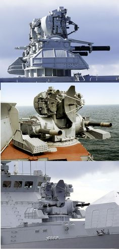"Russian Navy - CADS-1 3M87 ""Kashtan"" is a Close-in Weapon System (CIWS) Armament: Radar Guided 2 x 30mm 6 Barrel Gatling Guns with a Rate of Fire of 9,000 Rounds/min and 2 x 9M311Guided Missile Launchers with Auto-Reload for 32 Missiles"