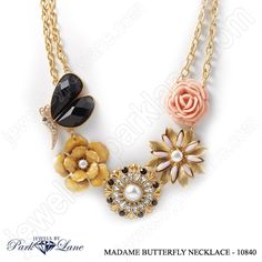Madame Butterfly necklace by park lane. Love the old broach look....so pretty.