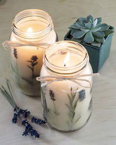 bougie diy lavande handmade candles, housewarming gifts