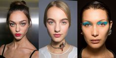 We love designers' recent obsession with electric blue eye shadow! Will you adapt any of these makeup trends from Harper's Bazaar into your spring beauty routine?