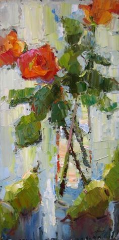 Love the style of these strokes...Barbara Flowers