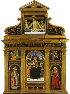 Pinturicchio - Pala di Santa Maria dei fossi - 1496-1498 - Galleria nazionale dell'Umbria, Perugia