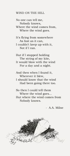 Wind on the Hill  - A.A. Milne