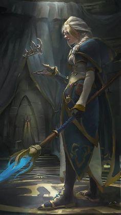 World of Warcraft Art — Jaina Proudmoore Artwork — Thoughts of the. Fantasy Warrior, Fantasy Rpg, Fantasy Artwork, Fantasy World, Dark Fantasy, World Of Warcraft 3, Warcraft Art, World Of Warcraft Characters, Fantasy Inspiration