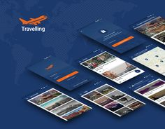 """Check out my @Behance project: """"Travelling App"""" https://www.behance.net/gallery/55333445/Travelling-App"""