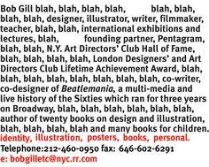 right on. Bob Gill website
