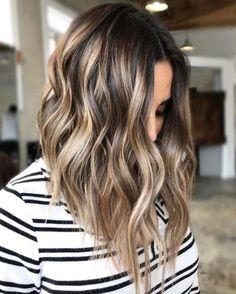 Blonde Balayage Highlights, Brown Balayage, Hair Color Highlights, Hair Color Balayage, Ombre Hair, Ombre Brown, Light Brown Highlights, Balayage Hairstyle, Medium Hair With Highlights