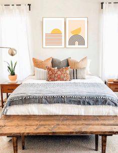 Room Ideas Bedroom, Home Decor Bedroom, Bedroom Inspo, Bedroom Furniture, Master Bedroom, Furniture Design, Aesthetic Bedroom, Dream Rooms, House Rooms
