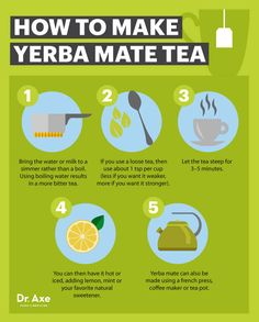 How to make yerba mate tea - Dr. Axe http://www.draxe.com #health #holistic #natural