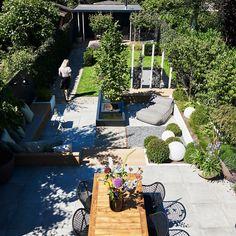 Garden Yard Ideas, Side Garden, Terrace Garden, Water Garden, Garden Projects, Outside Living, Outdoor Living, Contemporary Garden, Contemporary Water Feature