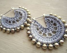 Items similar to Crocheted Hoops in Blue on Etsy