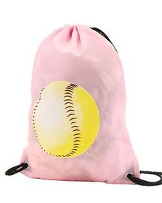 Baseball or Softball Print Drawstring Backpack Softball Bags, Softball Stuff, Lunch Tote Bag, Duck Dynasty, Working Woman, Beach Bum, Drawstring Backpack, Backpacks, Baseball