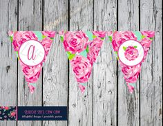 SALE ** INSTANT DOWNLOAD** Lilly Pulitzer First Impression Party Banner