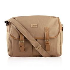 "Men's Canvas Military Satchel 14"" Laptop Shoulder Messenger School Travel Bag 