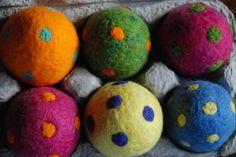 Polka dot felt Easter eggs