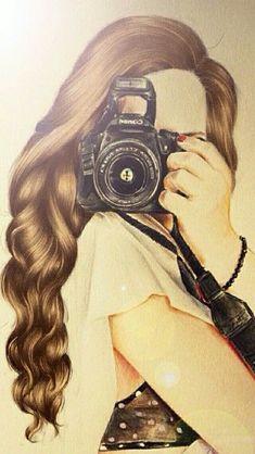 Drawing Ideas Girly Kristina Webb Ideas For 2019 Kristina Webb Drawings, Girls With Cameras, Girly M, Girly Drawings, Hair Drawings, Drawing Hair, Cute Girl Drawing, Illustration Mode, Art Illustrations