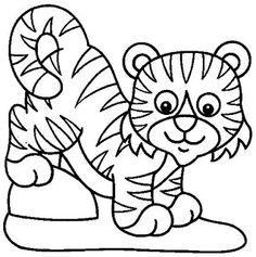 Kleurplaten Baby Tijgers.71 Beste Afbeeldingen Van Dieren Kleurplaten Coloring Pages