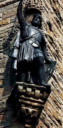 William Wallace (1274 - 1305)   Outlaw and defender of Scottish independence. Defeated the army of Edward I at the Battle of Stirling Bridge. Shortly after Wallace's execution, Robert the Bruce was able to re-establish Scotland's independence.
