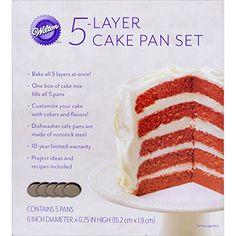 Wilton 2105-0112 Easy Layers! 5-Piece Cake Pan Set, 6-Inch - http://www.allaboutkitchenware.com/?p=398