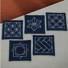 "Kit of Sashiko ""Coaster"" N°223"