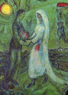 Marc Chagall. Het bruidspaar. Meer kaarten van chagall bij www.postersquare.com